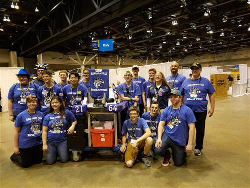Harrisonville Robotics in St. Louis for championships