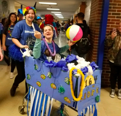2164's cart in the shopping cart parade. Overall, the cart got second place.