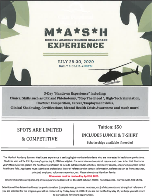 M.A.S.H Experience