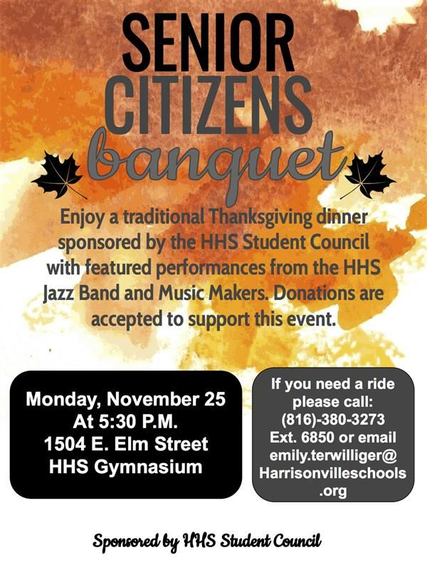 Senior Citizens Thanksgiving Banquet