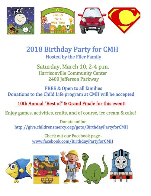 Birthday Party for CMH flyer