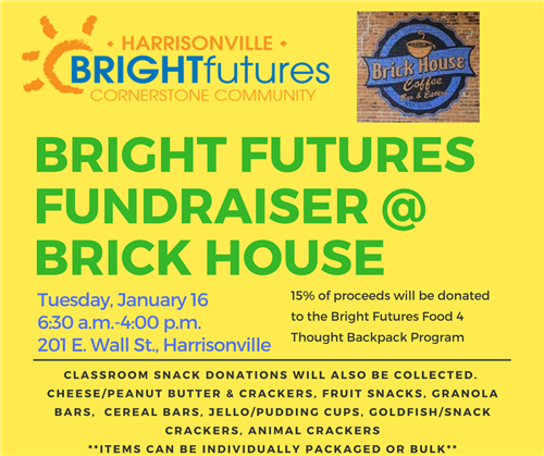 Bright Futures Day on Jan. 16 at Brick House Coffee