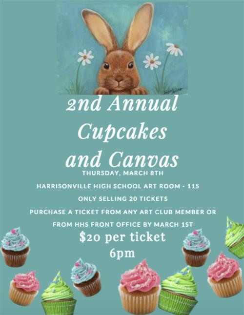 cupcakes and canvas flyer