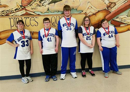special olympic team skill participants