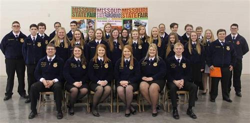 FFA members who attended the greenhand conference