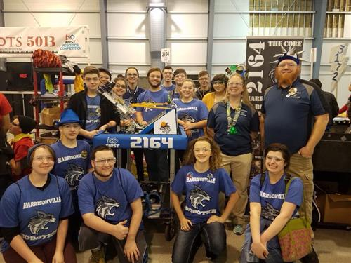group shot of robotics team